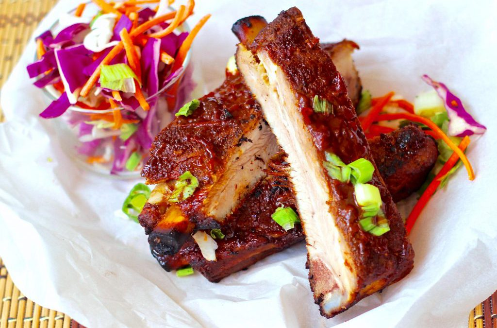Pork Spare Ribs with New Zealand Tamarillo Grill Sauce