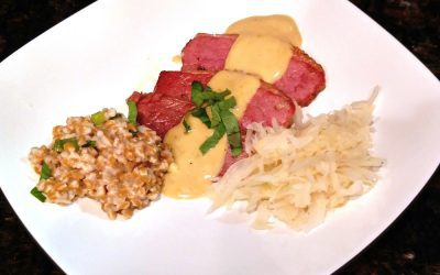 Corned Beef with Guinness Zabaglione