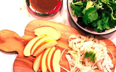Warm Spinach/Fennel/Apple Salad