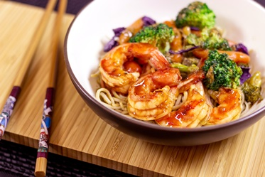 Healthy Quick Stir Fry with a Splash  of Exotic