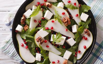 Pear Cranberry Salad with Fig Dressing